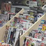 Porta riviste per banco edicola