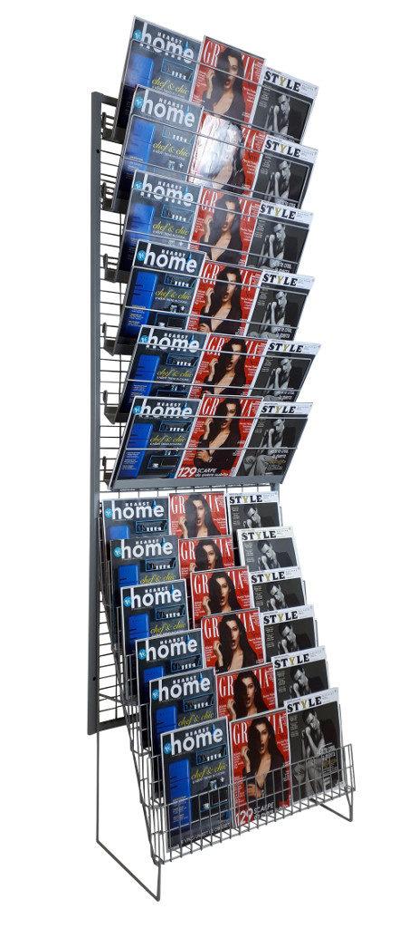 Espositore da edicola per riviste da parete